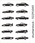 car silhouette | Shutterstock .eps vector #52291045
