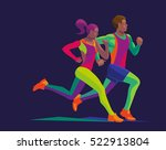 vector stylized multicolored... | Shutterstock .eps vector #522913804