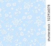 vector seamless blue embossed... | Shutterstock .eps vector #522916078