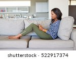 attractive young woman using a... | Shutterstock . vector #522917374