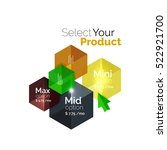 select product template. vector ... | Shutterstock .eps vector #522921700