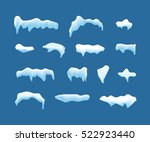 ice or snow blue vector caps... | Shutterstock .eps vector #522923440