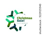 christmas and new year...   Shutterstock . vector #522925540