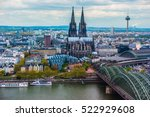 Small photo of Aerial view of Cologne, Germany. Beautiful travel photo.