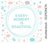 doodle handmade card background.... | Shutterstock .eps vector #522929674