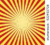 pop art halftone yellow red... | Shutterstock .eps vector #522932728