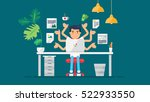 workspace of professional... | Shutterstock .eps vector #522933550
