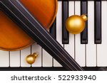 top view close up shot of piano ... | Shutterstock . vector #522933940