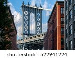 famous view of the manhattan... | Shutterstock . vector #522941224