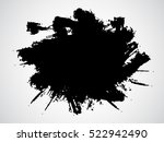 abstract black ink splash... | Shutterstock .eps vector #522942490