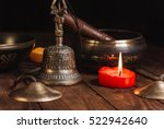tibetan instruments for music... | Shutterstock . vector #522942640