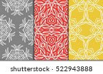 set of 3 geometry seamless... | Shutterstock .eps vector #522943888