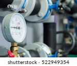 close up of manometer  pipe ... | Shutterstock . vector #522949354