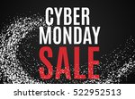 cyber monday big sale banner... | Shutterstock .eps vector #522952513