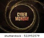 cyber monday big sale banner...   Shutterstock .eps vector #522952579