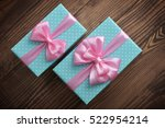 Blue Polka Dots Gift Boxes Wit...
