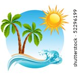 Vector Illustration   Two Palm...
