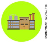 factory icon in trendy flat...