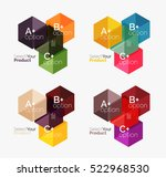 vector business geometric... | Shutterstock .eps vector #522968530