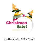 christmas and new year... | Shutterstock .eps vector #522970573