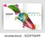 triangles and lines  annual... | Shutterstock .eps vector #522970699