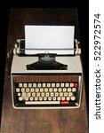 old typewriter on wood   Shutterstock . vector #522972574