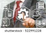 business man presses... | Shutterstock . vector #522991228