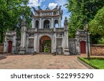 the entrance gate at a temple...   Shutterstock . vector #522995290