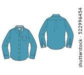 men oxford shirt template | Shutterstock .eps vector #522996454