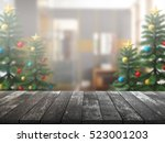 christmas tree with top wood...   Shutterstock . vector #523001203