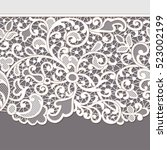 lace ribbons. horizontal... | Shutterstock .eps vector #523002199