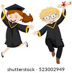 man and woman in black...   Shutterstock .eps vector #523002949