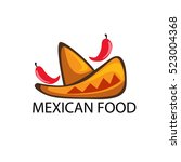 mexican mexico food restaurant... | Shutterstock .eps vector #523004368