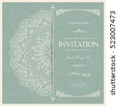 wedding invitation or greeting... | Shutterstock .eps vector #523007473