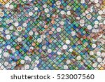 coins thrown in a colorful...