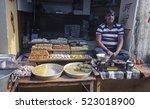 selling sweets street trade in... | Shutterstock . vector #523018900
