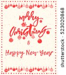 merry christmas and happy new... | Shutterstock .eps vector #523020868