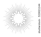 halftone effect vector... | Shutterstock .eps vector #523021144