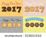 happy new year 2017. artistic... | Shutterstock .eps vector #523021510