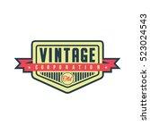 logo retro vintage vector | Shutterstock .eps vector #523024543