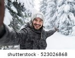 young man smile camera taking... | Shutterstock . vector #523026868