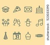 set of 12 celebration icons....