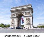 paris  france  on july 10  2016.... | Shutterstock . vector #523056550