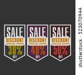 super sale  paper banner  sale... | Shutterstock .eps vector #523070944