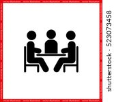 people around the table icon... | Shutterstock .eps vector #523073458