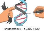 manual genetic engineering.... | Shutterstock .eps vector #523074430