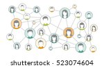 graphic representation social... | Shutterstock .eps vector #523074604