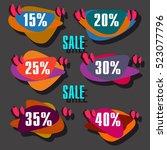 super sale  paper banner  sale... | Shutterstock .eps vector #523077796