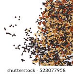 Mixed Bird Seed Isolated On...
