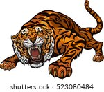 tiger color tattoo | Shutterstock .eps vector #523080484